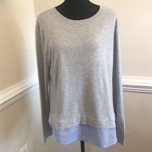 EUC J Crew Sweater Striped Shirt Bottom Size Large